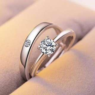 COUPLE SET RING SILVER 925
