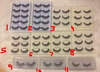 False eyelashes mink 3D eyelash strips lashes