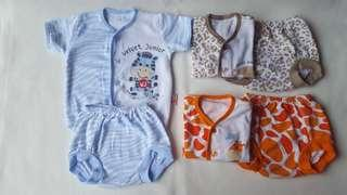 3 pasang baju bayi velvet 0-3 bln (like new) #ibuhebat