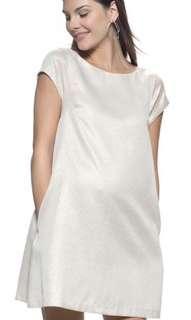 🚚 Mayarya Maternity V back shift jacquered dress size M