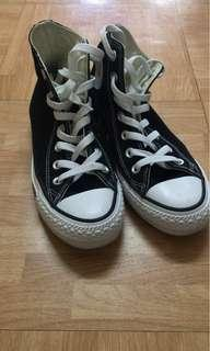 Converse All Star black high-top shoes 黑色高筒鞋