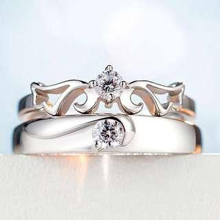RING SILVER 925 COUPLE SET