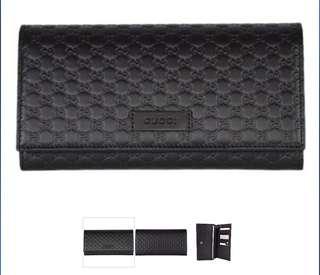 🚚 Gucci Wallet - Microguccissima Flap Long Wallet