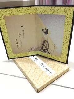 Photo banner made by Japanese paper