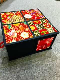 "Japanese ""origimi"" paper square shape jewellery box"