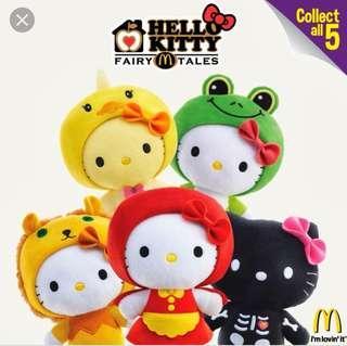 (FULL SET) McDonald's Hello Kitty Fairy Tale series plush soft toy complete set