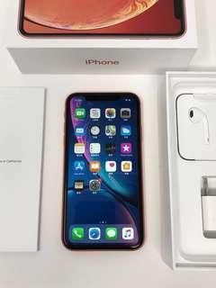 近全新 少用 Apple iPhone XR 64GB Coral 橘紅色 美國帶回 #6278