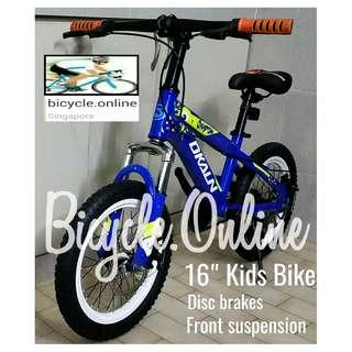 """Kids / Children Dkaln 16"""" Bike with High Specs * Disc brakes and front suspension. Brand new bicycle."""