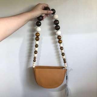 Pomelo Beaded Tan Shoulder Bag BNWT