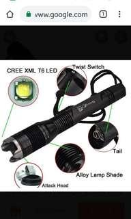 Underwater Flashlight - SingFire SF-606 Cree XM-L T6 1000Lmns 4 modes (2 x 18650 Battery included) + 2 extra 18650 Li-ion batteries