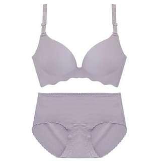 Lavender Grey Lingerie Set
