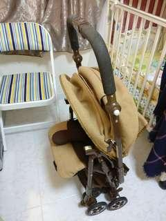 Aprica bb 車,8成,腳套+全遮蓋,初生-3 歲