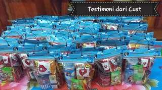 Testimoni Label Plastik Goodie Bag Ultah