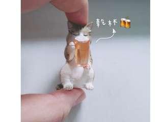 T-ARTS  動物的下班時光 酒醉動物 第一代 扭蛋 轉蛋 / 單售 - 啤酒貓🍻