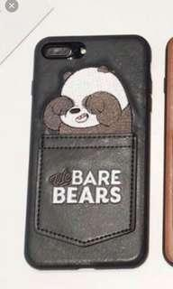 we bare bear phone case with pocket