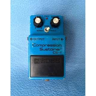 "1980 Boss CS-1 Compression Sustainer ""Experimental"" Silver Screw Japan"