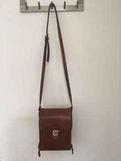 Milleni Leather Bag -Brown
