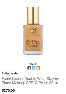 🚚 Estee lauder double wear stay in place makeup 7ml (ori $70/30ml)
