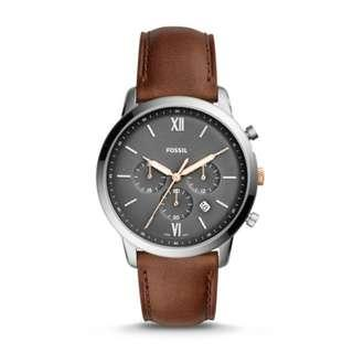 [ Flash DEALS ] Fossil FS5408 Neutra Chronograph Brown Leather Men's Watch