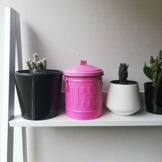 Pink Trashcan Tin