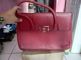 Tas Kulit Jeruk Original Leather ( Nego )