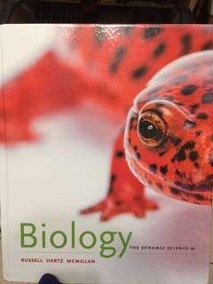 🚚 Biology: The Dynamic Science生物 原文書 9.9新 基礎生物 生物大全