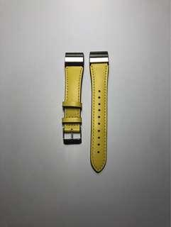 🚚 Fitbit Charge 2 Genuine Leather Straps in Yellow