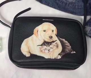 100% Real Balenciaga Puppy and Kitten Everyday Camera Bag S