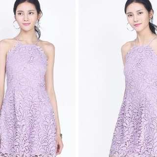 🚚 Fayth Courtney Crochet Lilac Dress (BNWT)