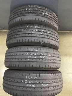 215/60/17 goodyear efficient grip used tyre 1pc $40