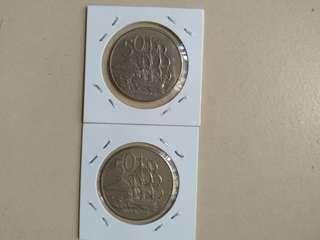 New Zealand 50c Coins