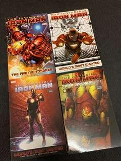 The Invicible Iron Man TPB lot