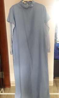 Baby blue denim dress HAVA
