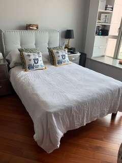 Double Bed with Quilted Headboard from Tequila Kola