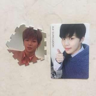 wannaone daniel and sungwoon official items