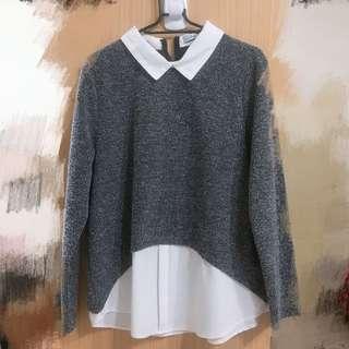 🚚 假兩件式 襯衫韓版長袖衫 #半價衣服市集