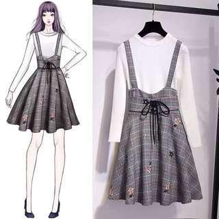 BNIP Korean style babydoll dress