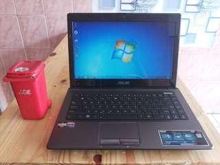 Laptop Asus K43BY Amd E1 Siap Pakai
