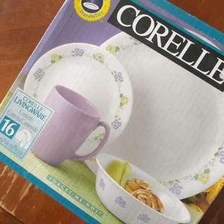 Corelle Forget-Me-Not 16-pcs Dinnerware set @ RM 225 only!!