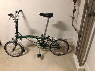 Brompton L3 British Racing Green Vintage Folding Bicycle