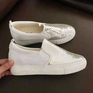 White/Silver Glitter Rubber Shoes