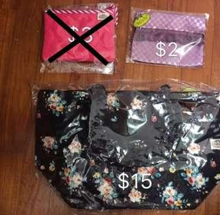 BN Naraya Floral Tote Bag & Tissue Pouch