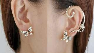 MISMATCH BUTTERFLY EARRINGS
