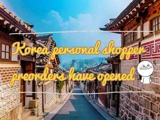 [PO opened] korea personal shopper