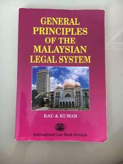 General Principles of The Malaysian Legal System