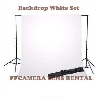 Sewa Backdrop Set & Kamera Lens Rental