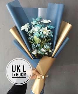 Buket Bunga blue