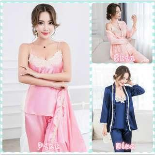 Muimui [ Ready Stock ] Woman Suit Long Sleeve Long Pant With 3 Colours MS1084