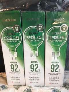 韓國牙膏大支裝三支