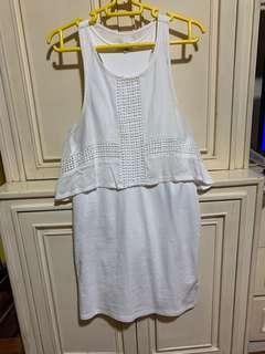 BNWOT American Eagle White Fitted Dress